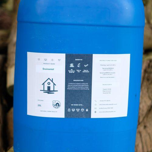 Enviromist for cleaning animal and pheasnt housing