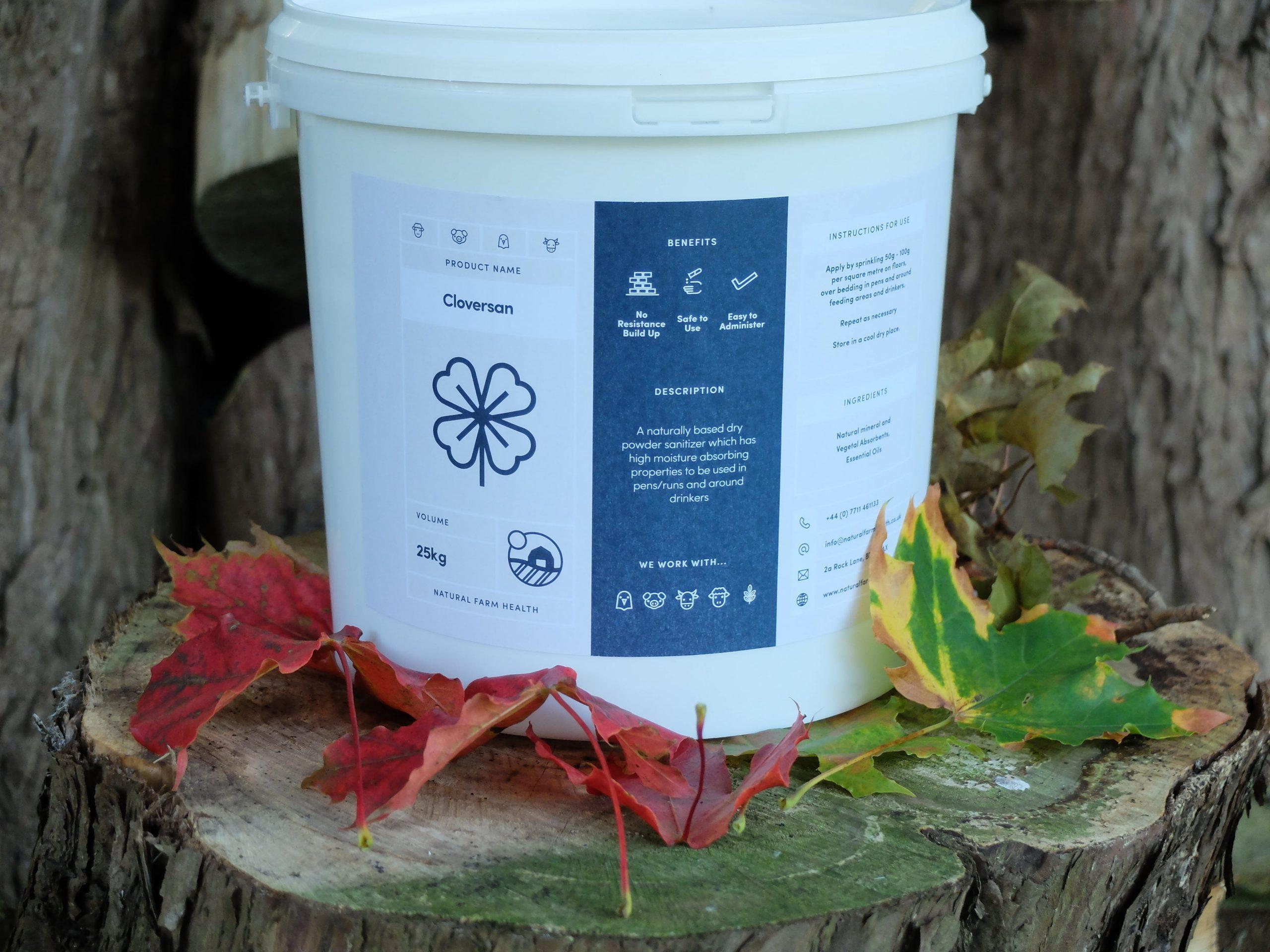 Cloversan dry disinfectant for animal housing